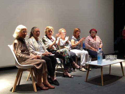 Elsa López, Pepa Aurora, Cecilia Domínguez, Isabel Medina, María Padrón, Olga Rivero y Lola Suárez
