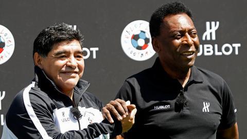 Pelé y Diego Armando Maradona