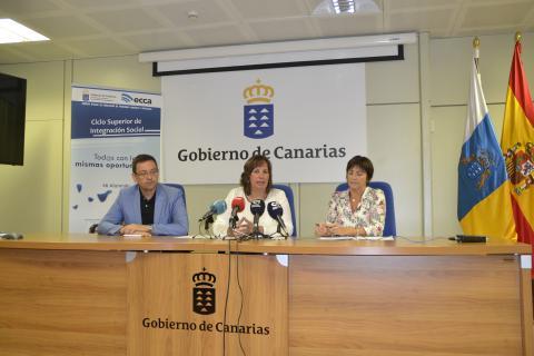 Soledad Monzón, Amparo Osorio y Manuel Jorge