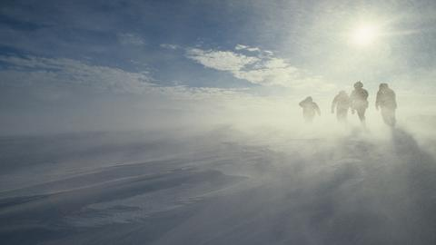 Nieve en la Antártida
