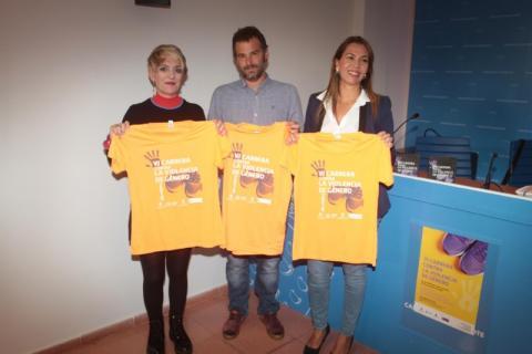 Presentación de las camisetas de la Carrera contra la Violencia de Género de Lanzarote