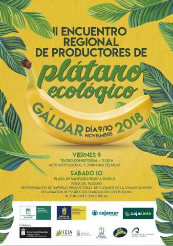 Cartel de las Jornadas del Plátano Ecológico