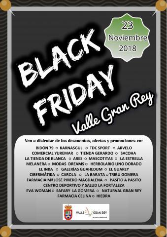 Cartel Black Friday en Valle Gran Rey