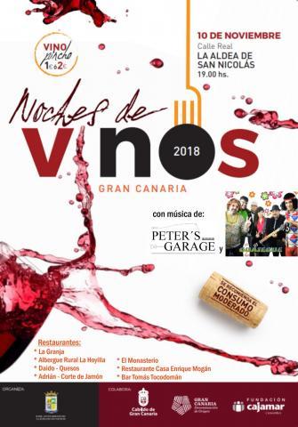 Cartel de Vinos y Tapas de La Aldea