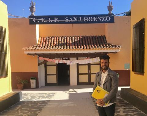 David Suárez en el CEIP San Lorenzo