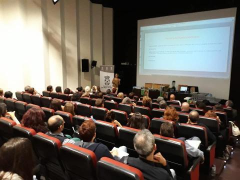 Salón de actos donde tuvo lugar la charla de nutrición