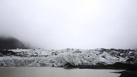 glaciar Solheimajokull, Islandia
