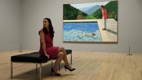 Una mujer y el cuadro