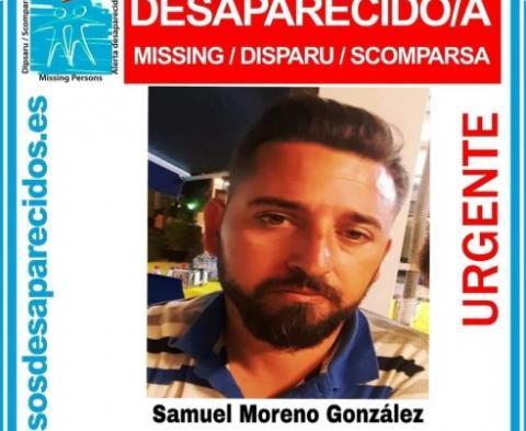 Cartel de desaparecido de Samuel Moreno