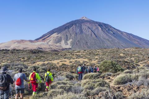 Sederistas en el Teide