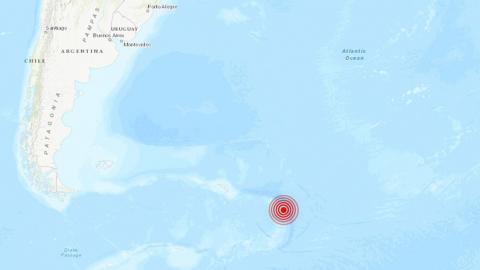 Mapa de Argentina señalando el sismo