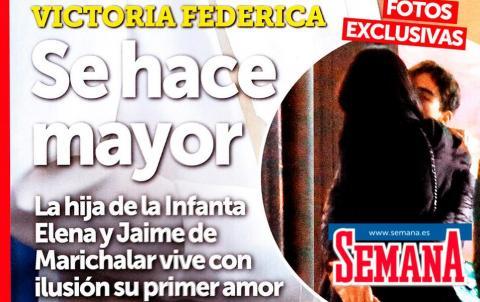 Victoria Federica en la portada de la revista Semana
