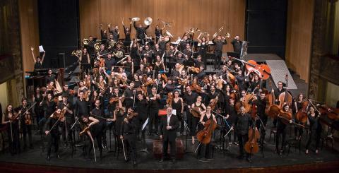 Miembros de la Joven Orquesta de Canarias