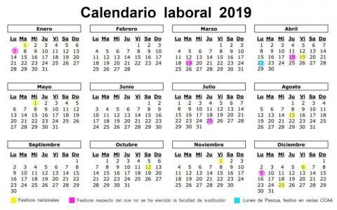Calendario Laboral Tenerife 2019.Festivos Canarias Noticias