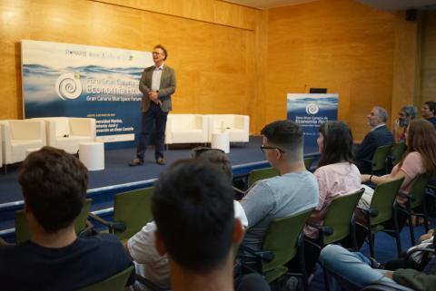 Francois Simard en el Foro Gran Canaria Economía Azul