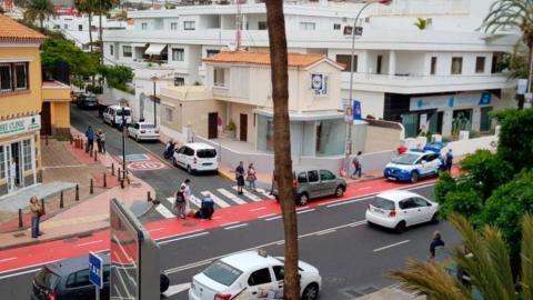 Accidente en el carril bici de Las Palmas de Gran Canaria