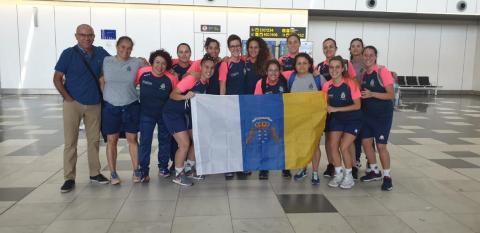 Jugadoras del Preconte en Bilbao