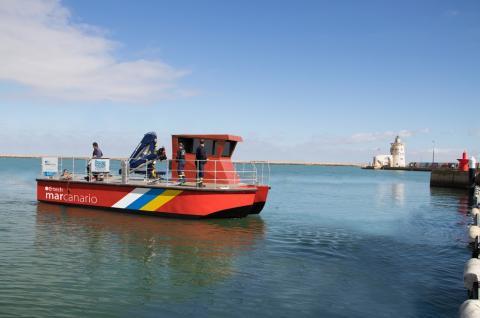 """La embarcación """"Mar Canario"""""""