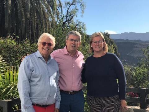 Marco Aurelio Pérez, Elena Álamo y Justus Frantz