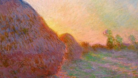 cuadro 'Meules, fin de l'été', que el artista francés Claude Monet