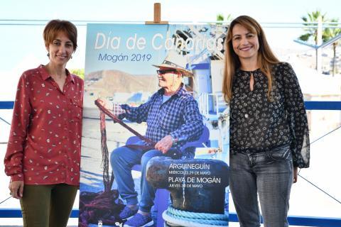 Onalia Bueno y Grimanesa presentación Día de Canarias