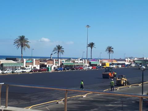 Obras del Aparcamiento Anexo II de Playa del Inglés