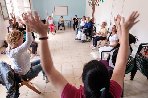 Sesión de yoga