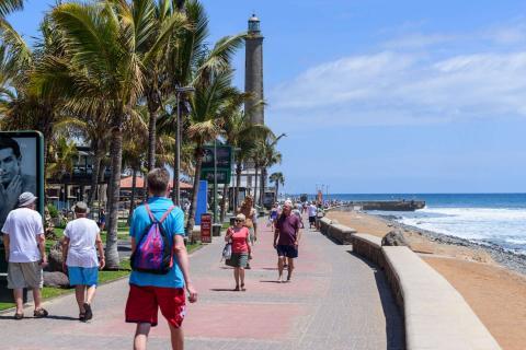 Turistas en Gran Canaria
