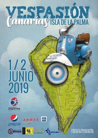 """Cartel de """"Vespasión Canarias 2019"""""""