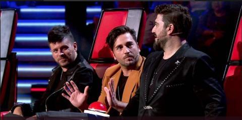 """David Bustamante y Antonio Orozco en """"La Voz Senior"""""""