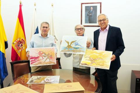 """Entrega de las láminas de """"El Ángel de las Dunas"""""""