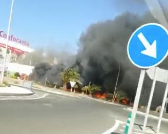 Incendio en el Polígono de Arinaga