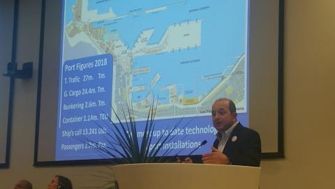 Juan José Cardona en la Asamblea de la Red Mundial de Ciudades Portuarias