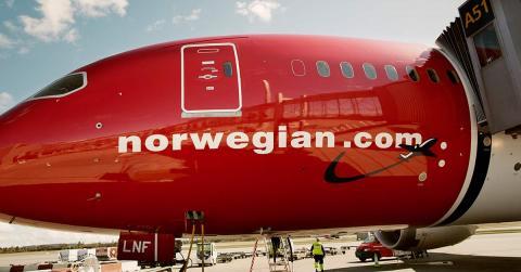 compañía aérea Norwegian