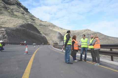 obras de la segunda fase de la carretera La Aldea