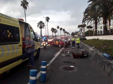 Accidente Avenida Marítima