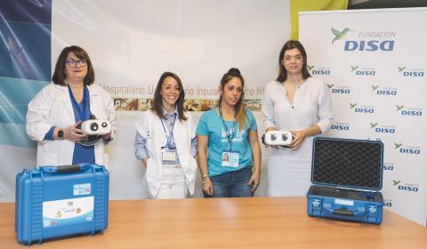 La Fundación DISA dota al Hospital Materno Infantil con gafas de realidad virtual