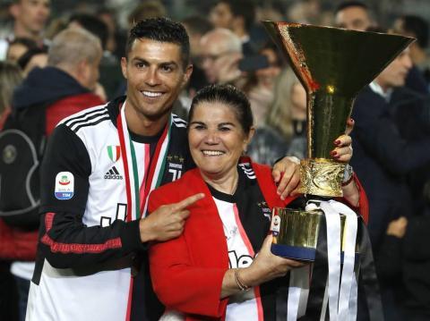 Cristiano Ronaldo y su madre Dolores Aveiro