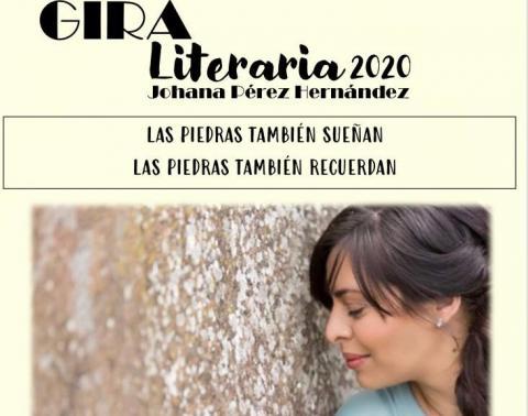 Cartel de la gira literaria de Johana Pérez en Lanzarote