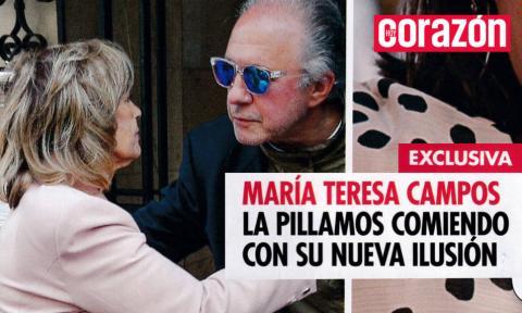 Portada de revista donde apararecen María Teresa Campos y Emilio Javier Gómez