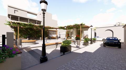 Recreación de la futura plaza de San Sebastián de La Gomera