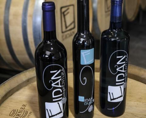 Botellas de vino Eidan de la Bodega Ventura de Gran Canaria