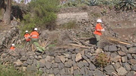 trabajando en la prevención de incendios en La Gomera