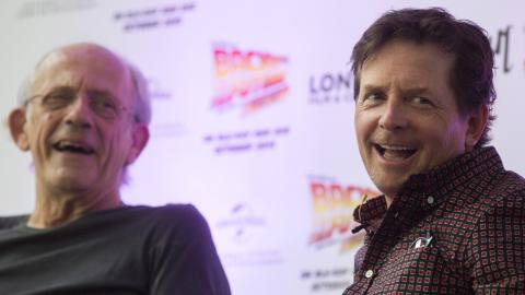 Christopher Lloyd y Michael J. Fox
