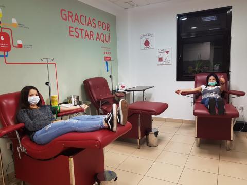 sala de donación de sangre