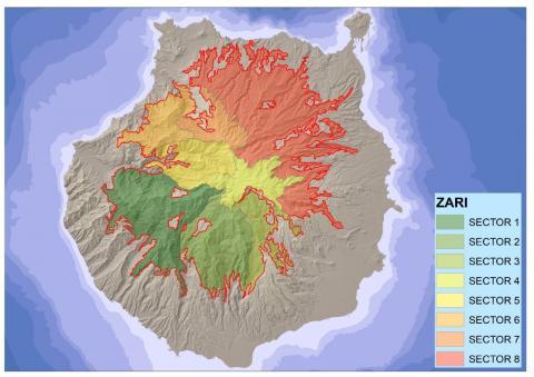 Gran Canaria. Zonas de riesgos.