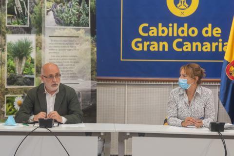 Antonio Morales e Inés Jiménez. Cabildo de Gran Canaria