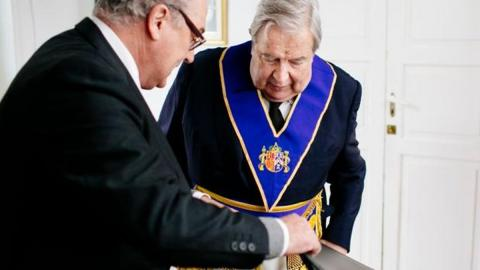 Jerónimo Saavedra. Masonería