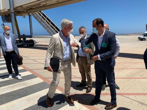 Fuerteventura recibe el primer vuelo alemán que aterriza en la Isla tras el estado de alarma