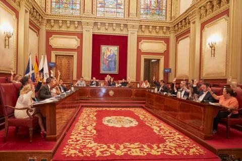 Pleno del Ayuntamiento de Santa Cruz de Tenerife